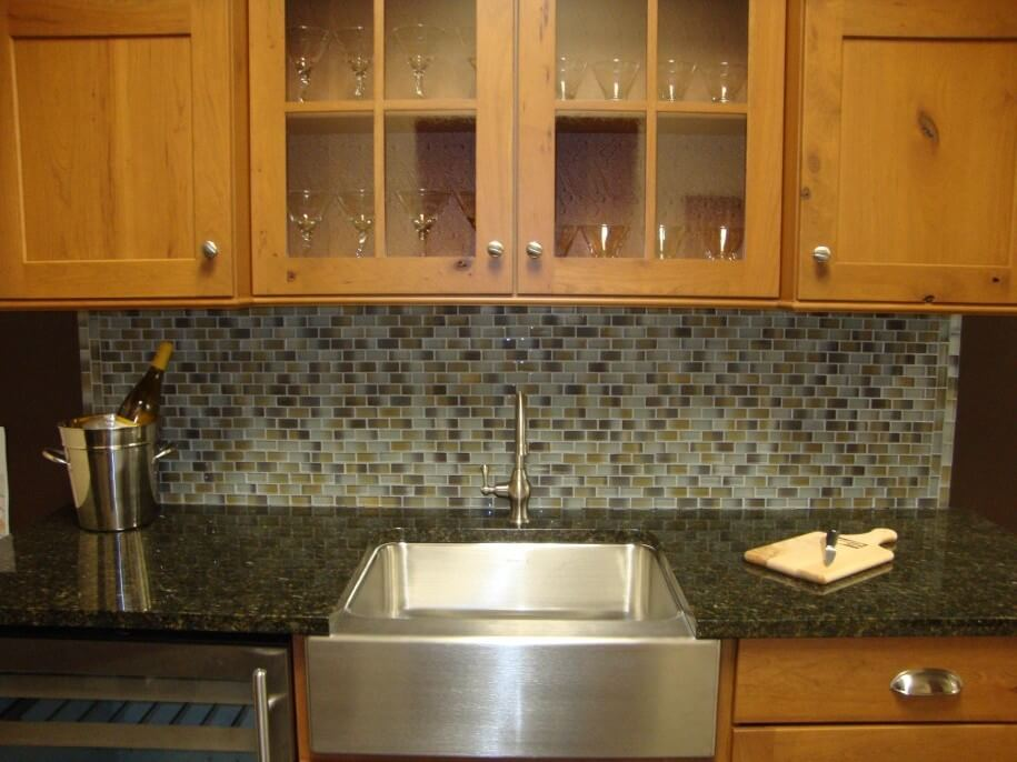 Meja Marmer Countertop Dapur dan backsplash