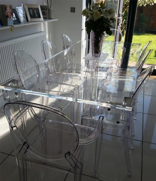lucite furniture transparan manufaktur