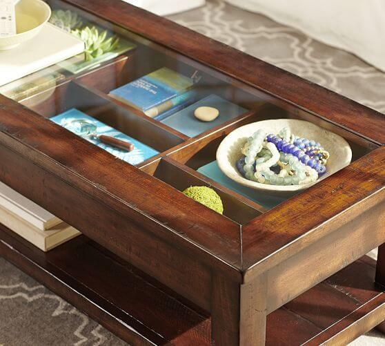 Coffee Table Meja Kopi Kaca Display