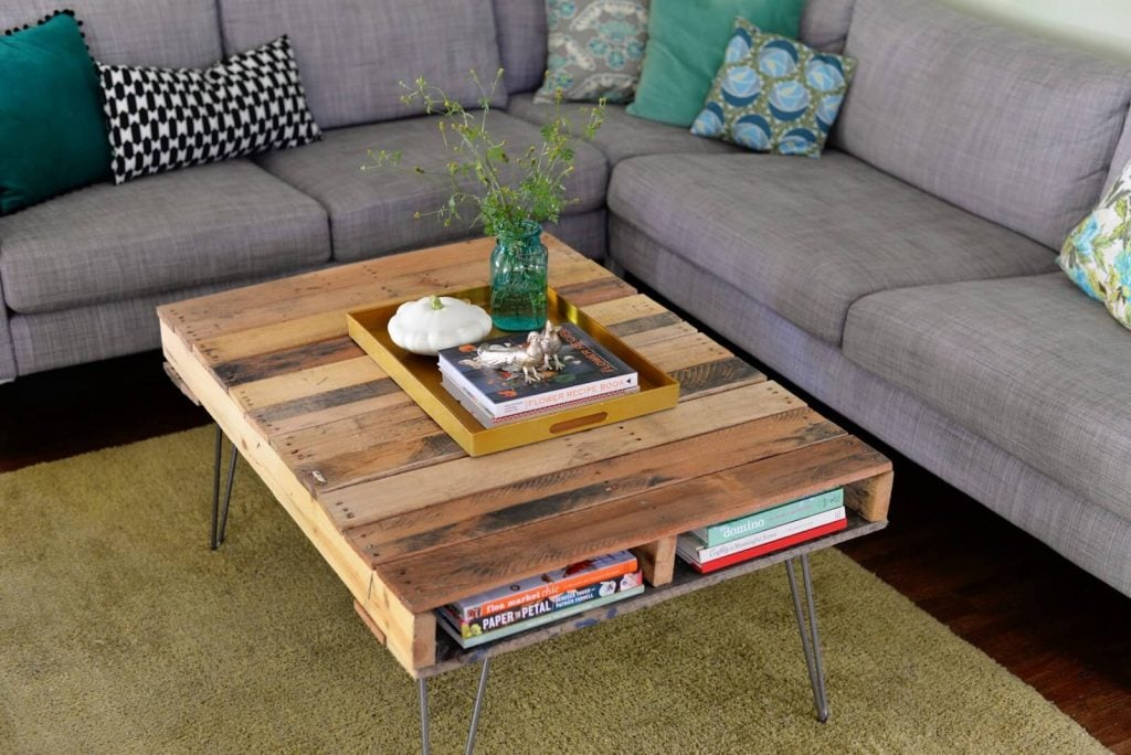 Coffee Table Meja Kopi Kaki Metal Tipis