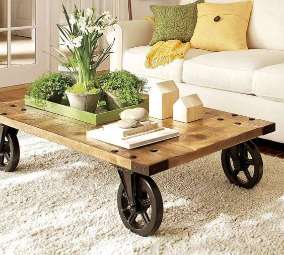Coffee Table Meja Kopi Rustic Beroda