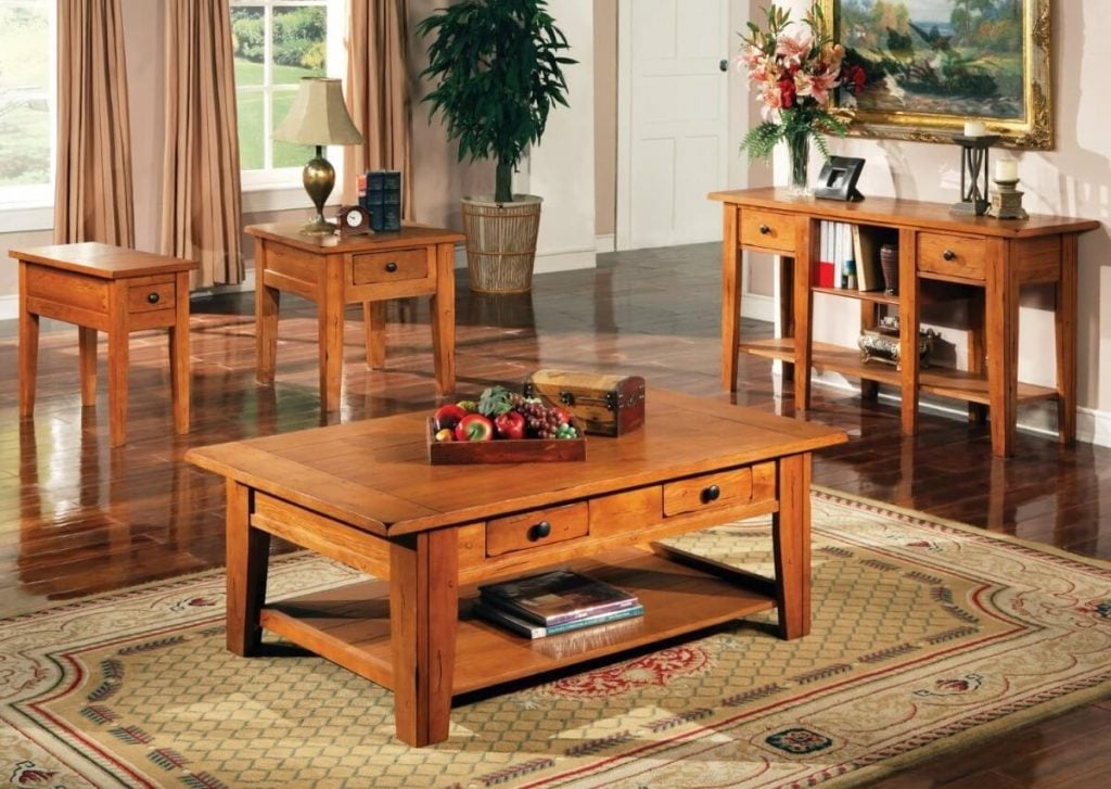 Coffee Table Meja Kopi Set