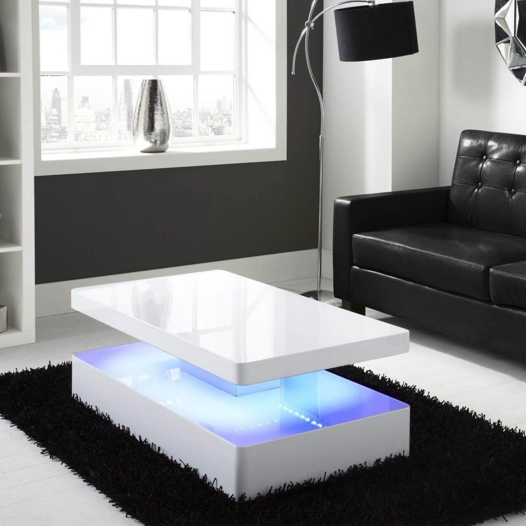 Coffee Table Meja Kopi dengan Lampu LED