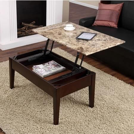 Coffee Table Meja Kopi Bukaan Atas