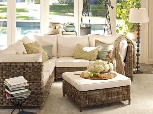 Kursi atau sofa Outdoor Indoor dengan Set Furniture Rotan